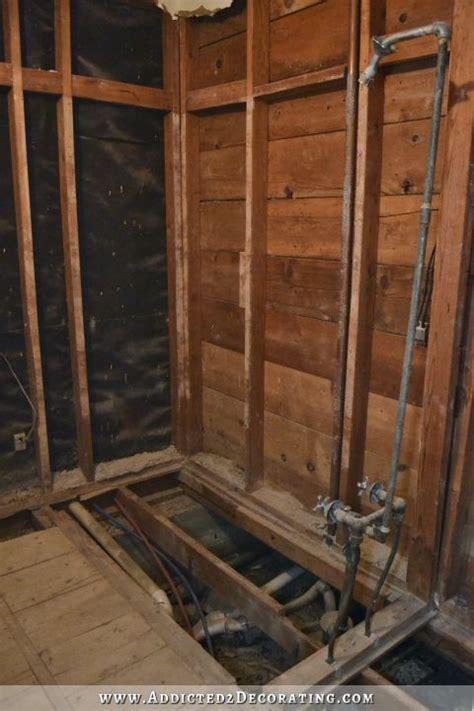 hallway bathroom demolition  finished  good newsthe