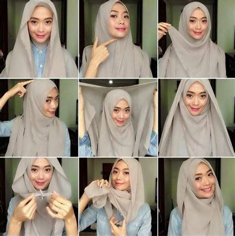 tutorial hijab pashmina simple  cantik