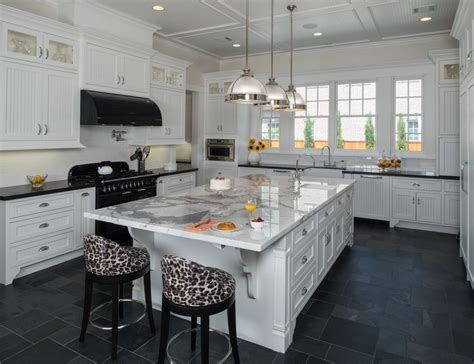 white kitchen slate floor slate countertops for your bathroom and kitchen 1404