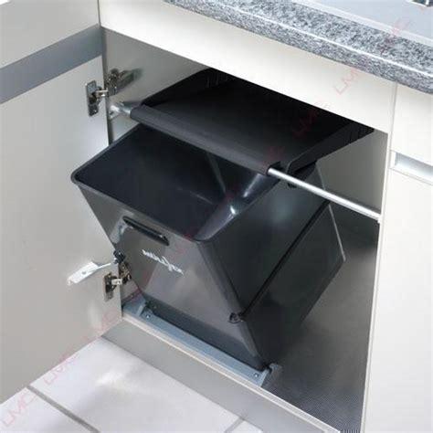 poubelle cuisine coulissante sous evier poubelle de cuisine monobac pour la gestion des déchets