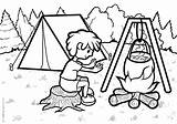 Travel Coloring Camping Printable sketch template
