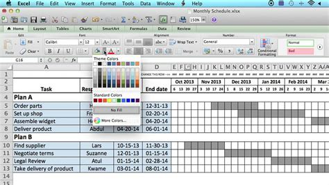 How To Use A Monthly Schedule In Microsoft Excel