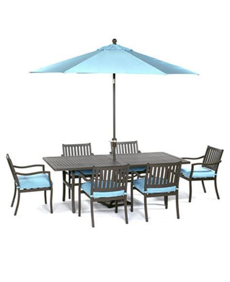 holden outdoor patio furniture 7 piece set 84 quot x 42