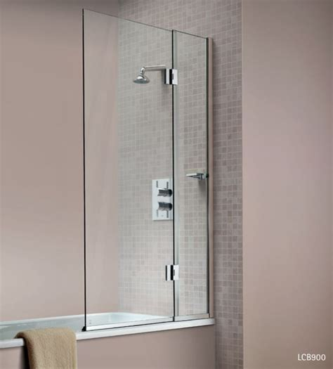 Matki Eleganza Hinged Panel Bath Screen Silver Frame With Glear Glass (Right Handed)