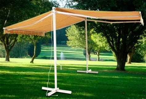 standing motorized double sided retractable awning  remote control