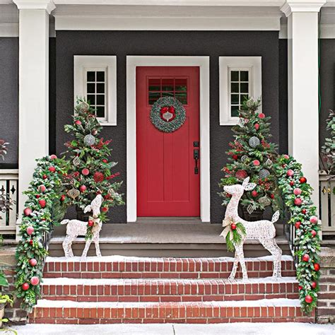 christmas decorating ideas for porch railings christmas decor for front porches