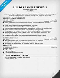 Builder Resume  Resumecompanion Com