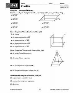 Parallel Lines And Planes Worksheet For 10th Grade