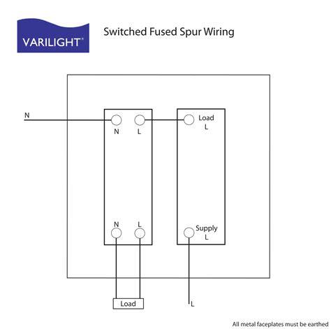 radial circuit fused spur wiring diagram