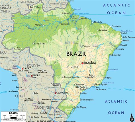 brazil map free large images mapas pinterest