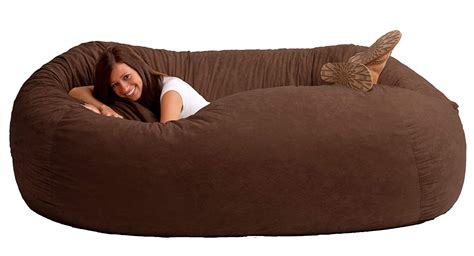 bean bag settee chair sofa oversized furniture recline comfort seat lounge