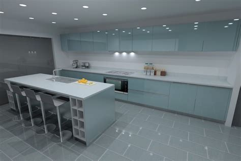 oak kitchen island units blue lacquer kitchens from lwk kitchens