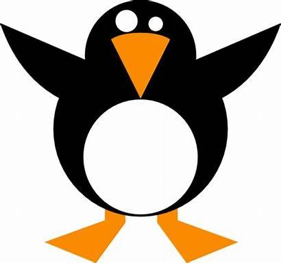 Simple Penguin Clip Vector Clipart Clker Cliparts