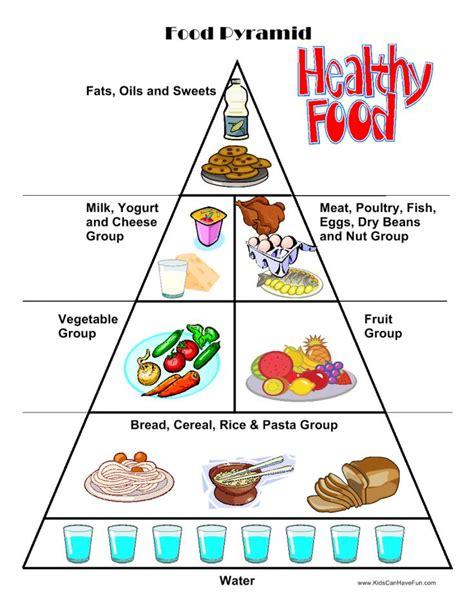 food worksheets cut paste activities food pyramid it