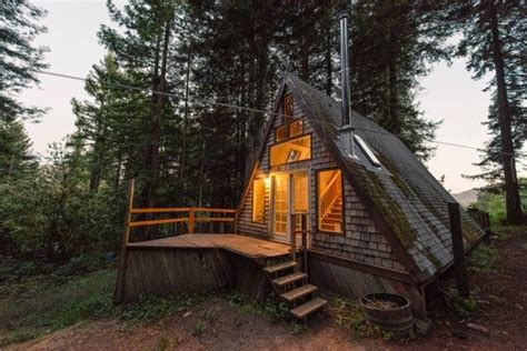 a frame cabins amazing tiny a frame cabin in the redwoods