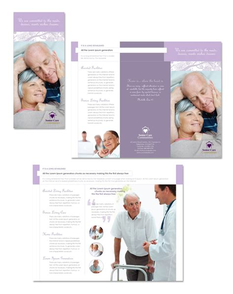 Home Health Care Brochure Templates by Elder Care Nursing Home Tri Fold Brochure Template