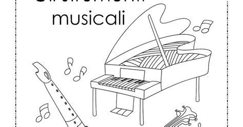 la maestra linda gli strumenti musicali da colorare