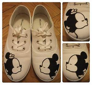 Painting on shoes - Mickey and Minnie by Sakura-chibi93 on ...