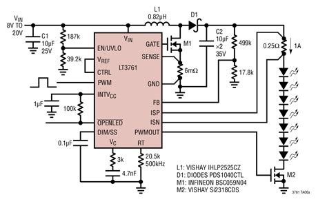 Boost Led Driver For Khz Pwm Dimming Circuit