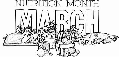Nutrition Month National March Clip Vector Drawing