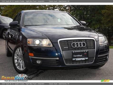 2007 Audi A6 4.2 Quattro Sedan Night Blue Pearl / Amaretto