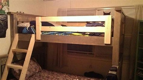 ana white twin  full simple bunk bed diy projects