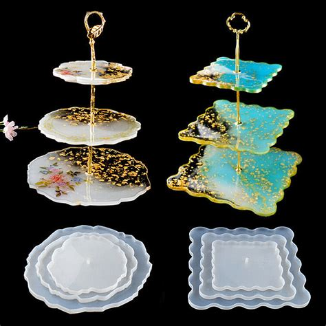 tier cake stand resin molds cake trays large silicone coaster mold agate tray epoxy resin