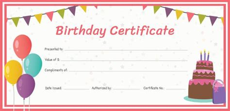 birth certificate template   word  psd