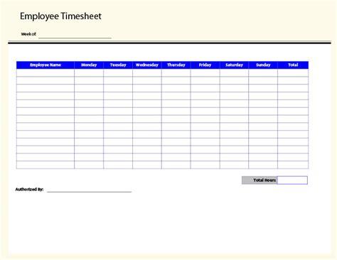 printable employee timesheet printable pages