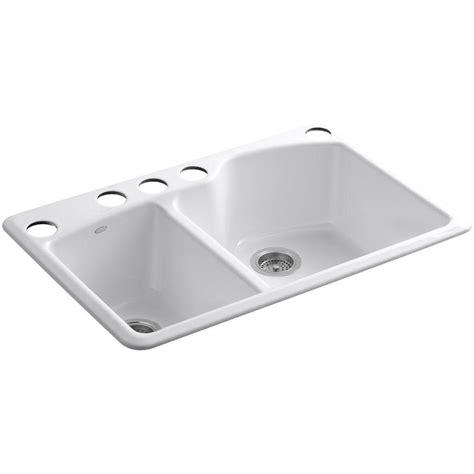 kohler cast iron kitchen sink kohler wheatland undermount cast iron 33 in 5 8811