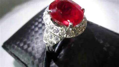 grade aaaaa pigeon s ruby ring burma 8 carats sold youtube