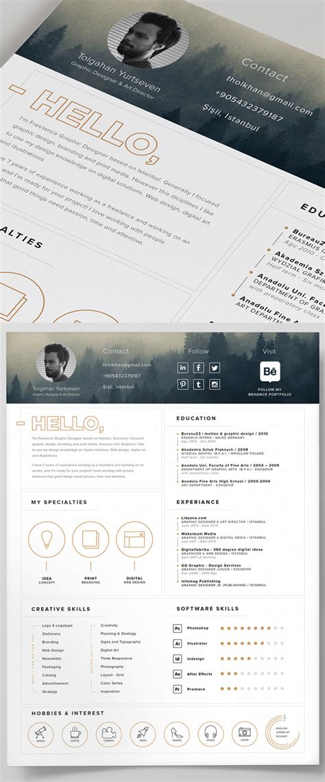15 free high quality cv resume cover letter psd