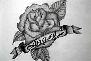 Rose Tattoo Designs with Names