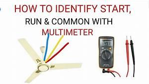 3 Wire Ceiling Fan Common  Start  Run Terminal Identify