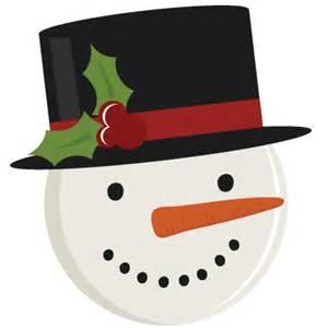 Snowman Face Free SVG Cut Files