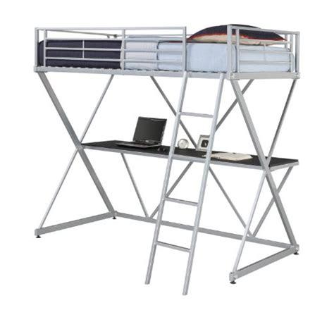 metal loft bed with desk under metal loft beds with desk underneath