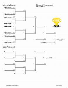 Tournament bracket templates for excel 2016 march for Double elimination tournament bracket template