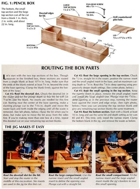 pencil box plans woodworking plans crafts pencil