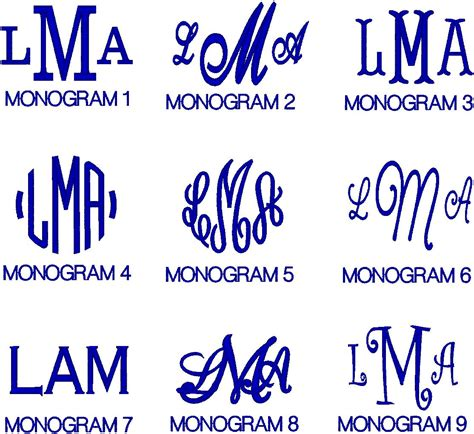 initially impressed monograms  custom embroidery
