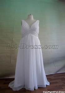 plus size v neckline maternity wedding dress 50491st With plus size maternity wedding dresses