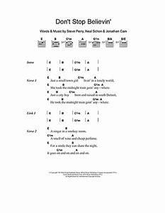 Don't Stop Believin' sheet music by Journey (Lyrics ...