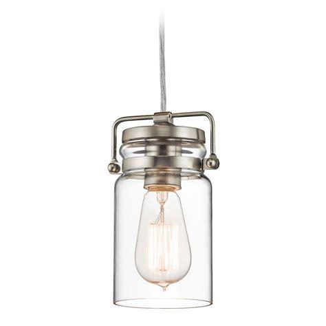 brushed nickel pendant light kichler lighting brinley brushed nickel mini pendant light
