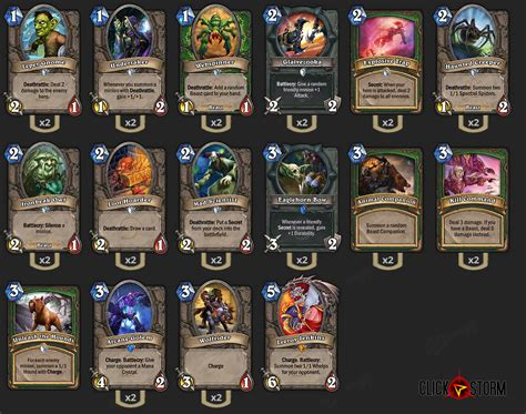 Hearthstone New Deck Face Hunter By Yell9x