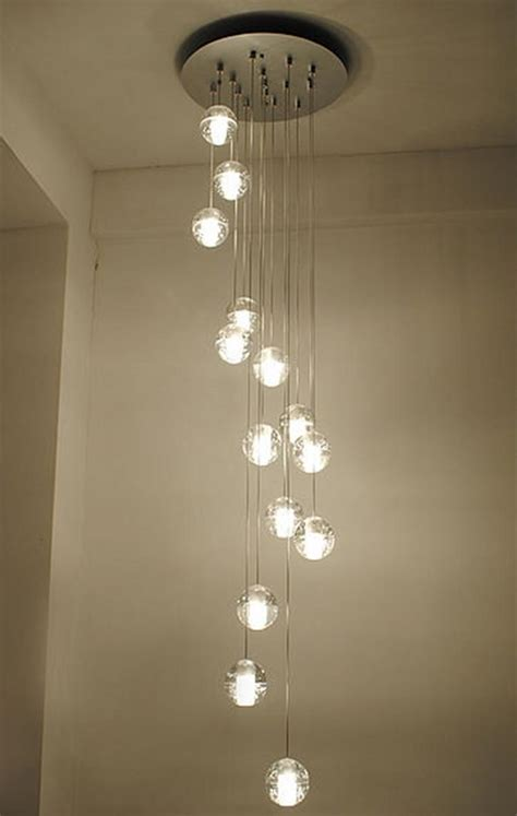 modern stairwell led chandelier lighting large