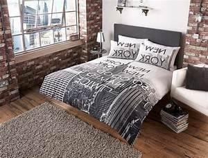 Deco chambre new york adulte for Chambre a coucher adulte avec housse de couette lego city