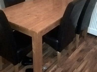 argos home oak stain dining table for sale in