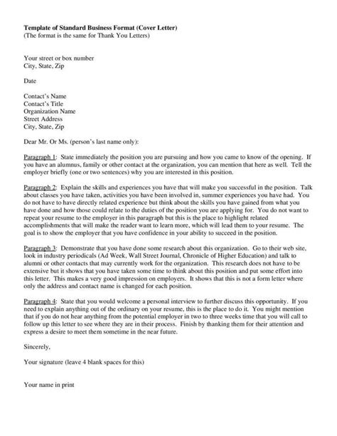cover letter structure format for a cover letter business cover letter format 29523