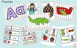 letter a preschool printable pack fun with mama With 3 letter word building puzzles