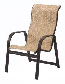 Patio Furniture Replacement Slings Florida by High Back Sling Patio Chairs Icamblog