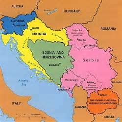 Map Yugoslavia Bosnia War 1992